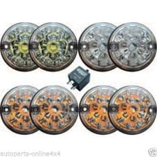 LAND ROVER DEFENDER WIPAC CLEAR LED LIGHT LAMP UPGRADE KIT - RE1191