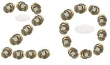 LAND ROVER DISCOVERY 2 (1998-2004) STAINLESS ALLOY WHEEL NUTS - SET OF 20