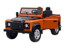 Sit-in Land Rover Defender Large Electric Toy Car 12v 2WD - Orange
