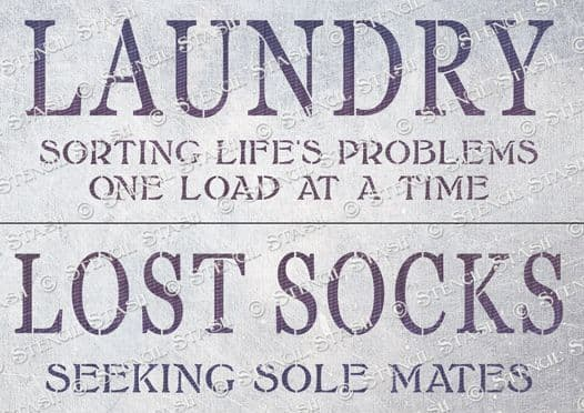 Laundry Signs Pair