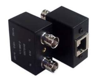 Dual Female BNC to RJ45 Balun Adaptor