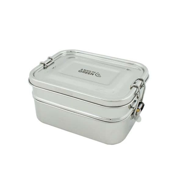 A Slice of Green Buruni Two Tier Leak Resistant Lunch Box