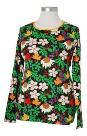 Duns Autumn Flowers Brown Adult Long Sleeve Top