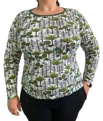 Duns Enchanted Forest Adult Long Sleeve Top
