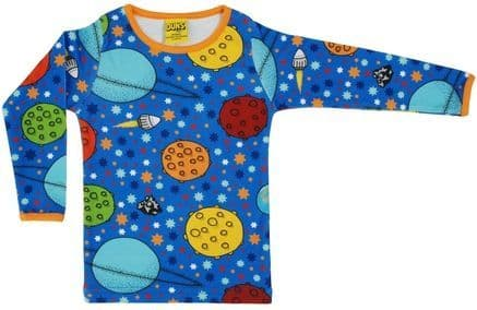 Duns Mama Long Sleeve Top Lost in Space Blue