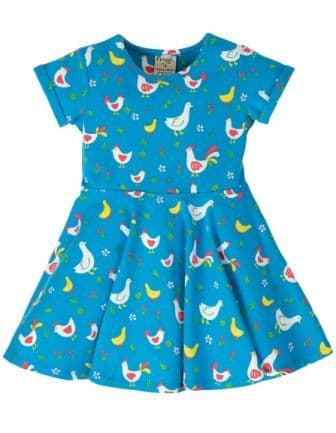 Frugi Bantam Chicken Spring Skater Dress