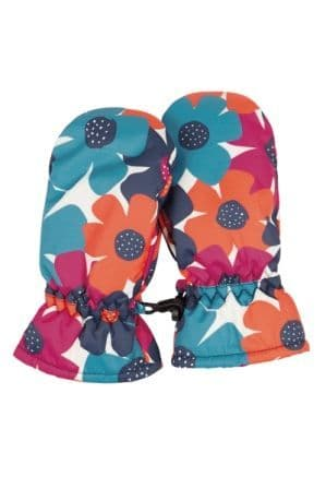 Frugi Bright Floral Snow and Ski Mittens