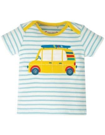 Frugi Bright Sky Breton Car Bobster Top