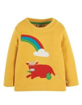 Frugi Bumble bee Cow Little Discovery Top