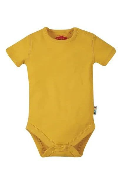 Frugi Bumblebee Yellow Everyday Short Sleeve Body