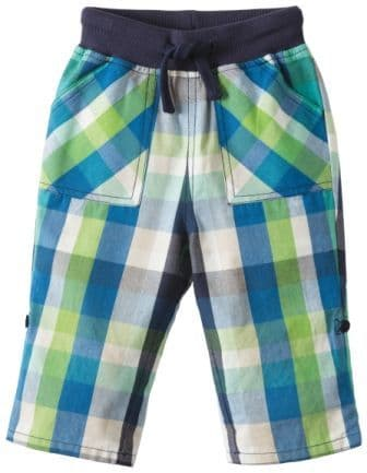 Frugi Check Roll Up Trousers Jungle Green Check