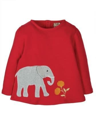 Frugi Elephant Connie Applique Top