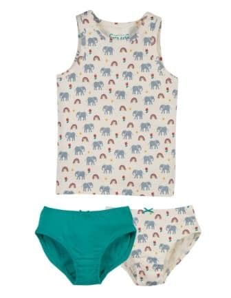 Frugi Elephants Briefs & Vest set
