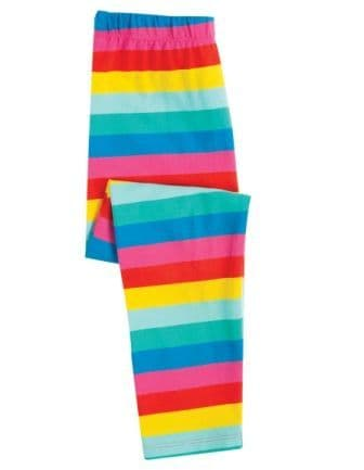Frugi Flamingo Multi Stripe Libby Leggings