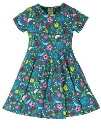 Frugi Garden Friends Spring Skater Dress