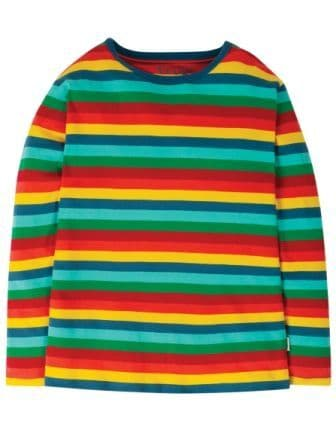 Frugi Grown Ups Favourite Tee Blue Multi Stripe
