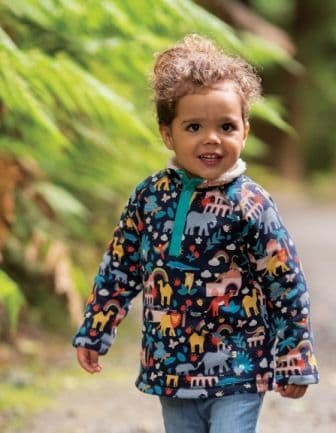 Frugi Indigo India Snuggle Fleece