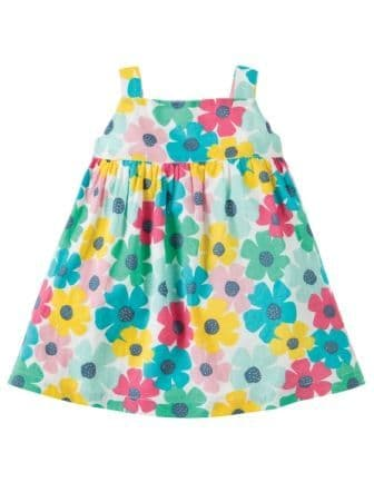 Frugi Jess Party Dress Spotty Poppy