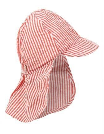 Frugi Koi Red Stripe Legionnaires Hat