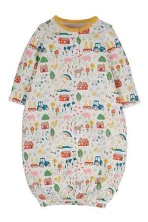 Frugi Life at the Farm Sleepy Baby Gown