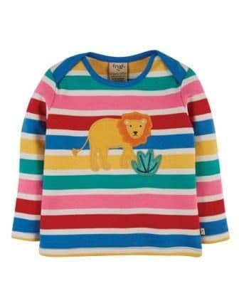 Frugi Lion Bobby Applique Top