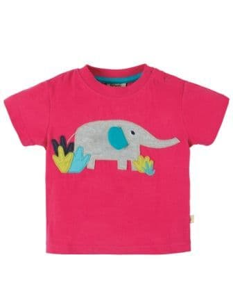 Frugi Little Polkerris T-Shirt Raspberry Ellie