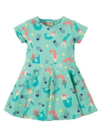 Frugi Little Spring Skater Dress St Agnes Mermaid Magic