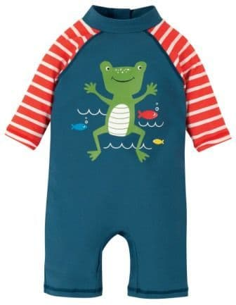 Frugi Little Sun Safe Suit Blue Frog