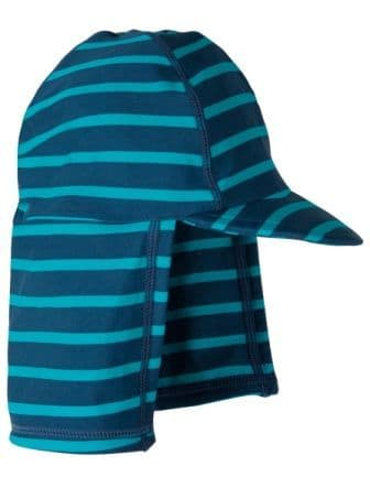 Frugi Little Swim Legionnaires Hat Sea Stripe