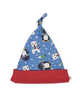 Frugi Lovely Knotted Hat Snowy Friends