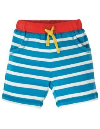 Frugi Motosu Blue Stripe Little Stripy Shorts