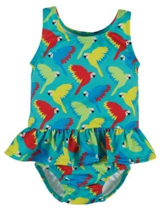 Frugi Parrots Newlyn Nappy Swimsuit