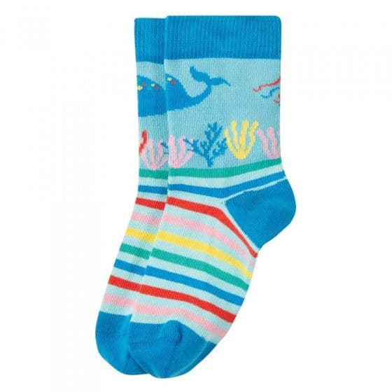 Frugi Perfect Pair Socks Blue Sea