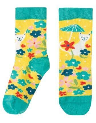 Frugi Perfect Pair Socks Cat