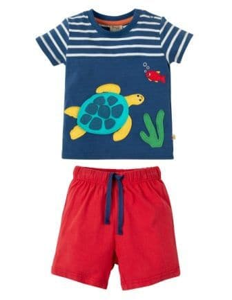 Frugi Porthleven Outfit Marine Blue Turtle