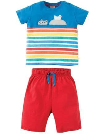 Frugi Porthleven Outfit Sail Blue Hippo