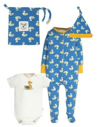 Frugi Puddle Ducks Baby Gift Set