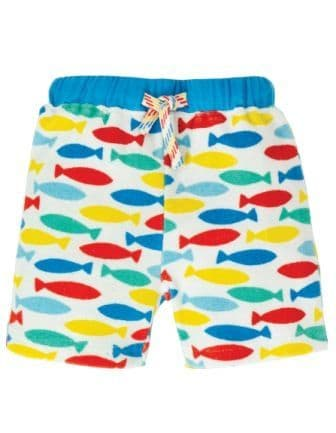 Frugi Rainbow Fish Little Towelling Shorts
