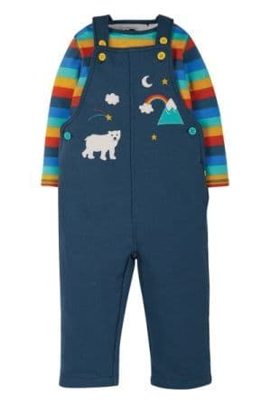 Frugi Rainbow Rae Dungaree Outfit