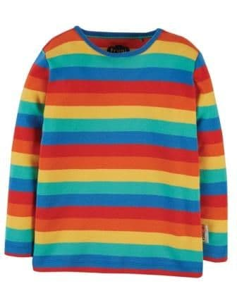 Frugi Rainbow Stripe Favourite Long Sleeve Tee