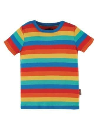 Frugi Rainbow Stripe Favourite T-shirt