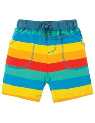 Frugi Rainbow Stripe Little Stripy Shorts