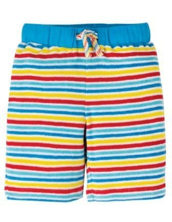 Frugi Rainbow Stripe Towelling Shorts