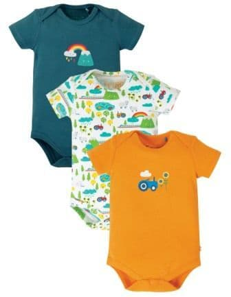 Frugi Rainbow Super Special Body 3 pack Multipack
