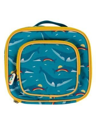Frugi Rainbow Whales Pack a Snack Lunch Bag