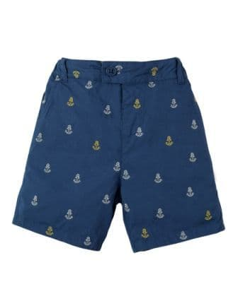 Frugi Ralph Reversible Shorts Marine Blue Anchors