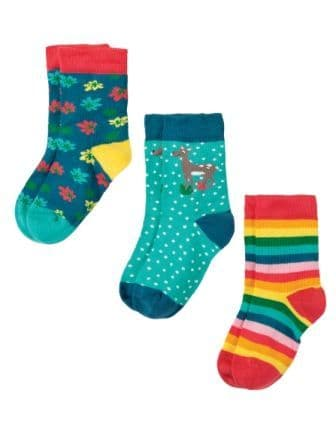 Frugi Susie Socks Deer Multipack