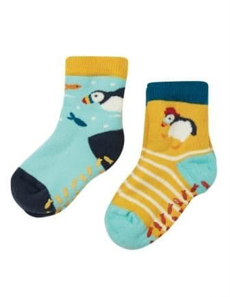 Frugi The National Trust Puffin Grippy Socks