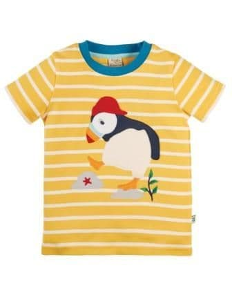 Frugi The National Trust Puffin Sid Applique T-shirt