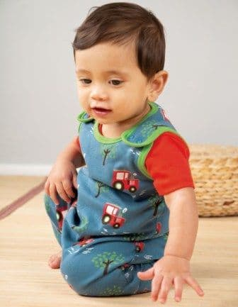 Frugi Tractor Fields Kneepatch Dungarees